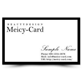 【 可愛い名刺 】 サロン名刺・ショップカード|美容室やエステサロンに!おしゃれモノクロデザイン01