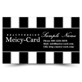 【 可愛い名刺 】 サロン名刺・ショップカード|美容室やエステサロンに!おしゃれモノクロデザイン04