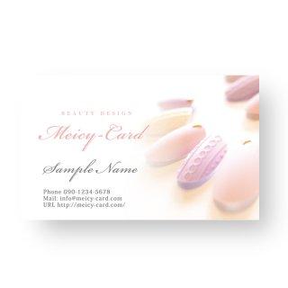 【 可愛い名刺 】 サロン名刺・ショップカード|美容サロン向け!お洒落オーガニックデザイン01