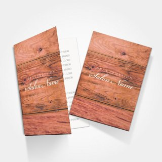 2つ折りミニリーフレット|ウッドスタイルデザイン