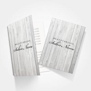 2つ折りミニリーフレット|サロンシンプルウッドデザイン