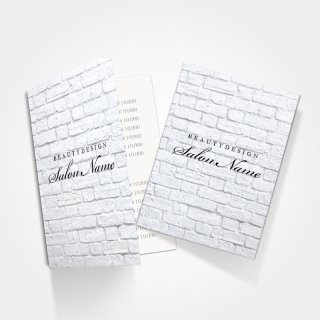 2つ折りミニリーフレット|サロンシンプルレンガデザイン