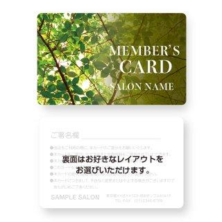 【紙製・PETカード】サロン会員カード・メンバーズ・VIPカードデザイン17(角丸)