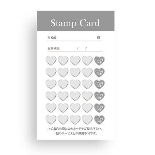 【 裏面オプション 】(名刺・ショップカード用)-たて:ハートスタンプカード