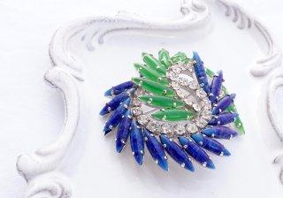 1968   Christin Dior<br>ブルー&グリーンブローチ