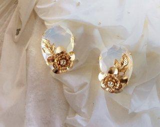 Jewel flower Pierced&Earrings