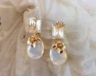 Jewel marguerite  Pierced&Earrings