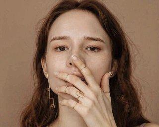 Asymmetry face pierced /gold