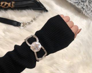 Silver chain bangle