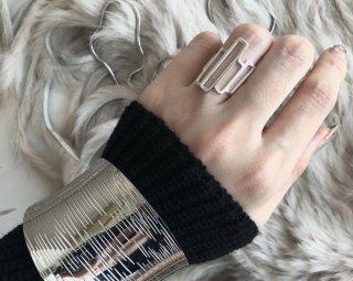 Silver925  geometric ring