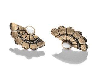 Vintage metal shell pierced / gold