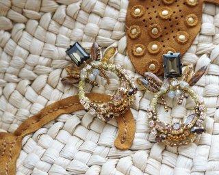 Pineapple  Pierced&Earrings / smorky brown