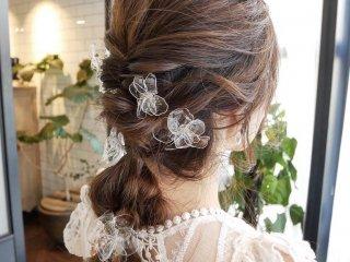American flower Head Dress /round silver