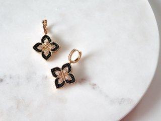【予約販売】Zirconia clover pierced