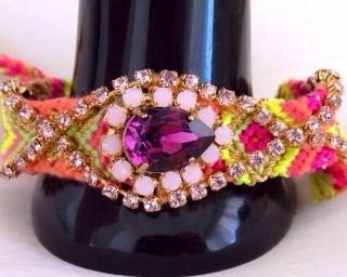 jewelry missanga-neonpink