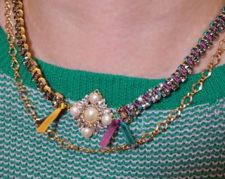 multi ribbon necklace