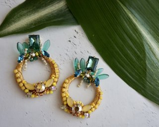 Pineapple hoop Pierced&Earrings( L )