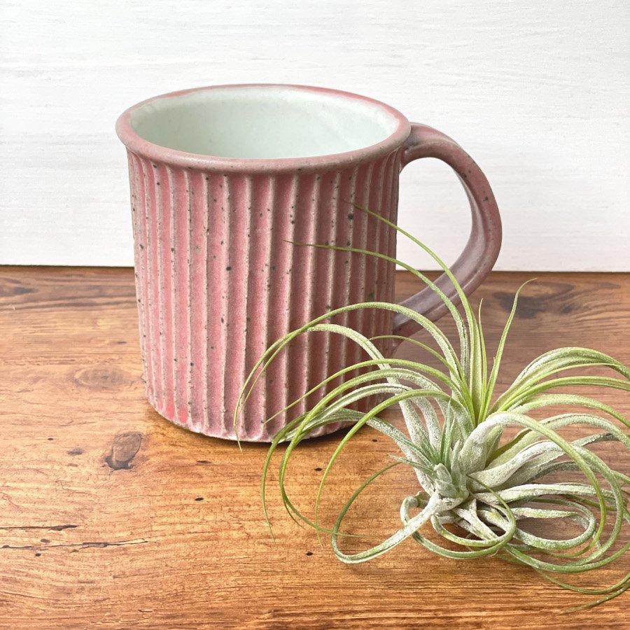 宋艸窯 マグカップ(切立タイプ) マット赤