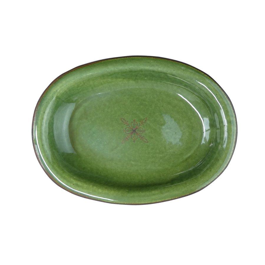 atelierBOKKO モチーフ オーバル皿 緑