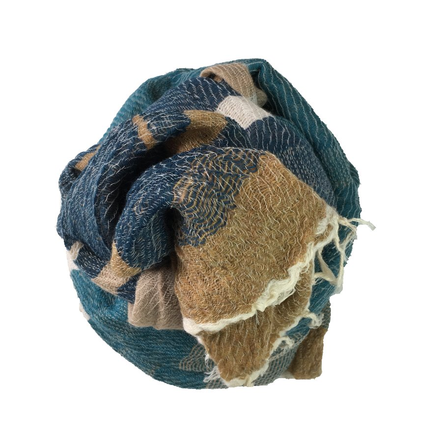 tamaki niime roots shawl MIDDLE wool 70% 1