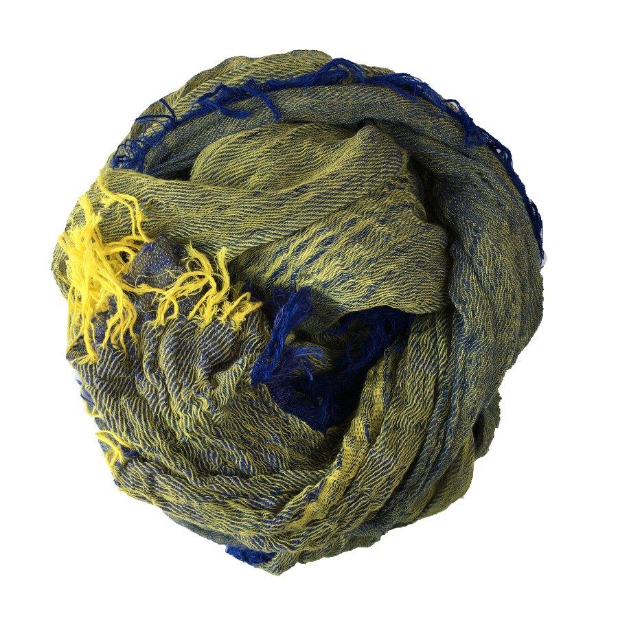 tamaki niime きぶん shawl  BIG  cotton100% シャンブレーブルー