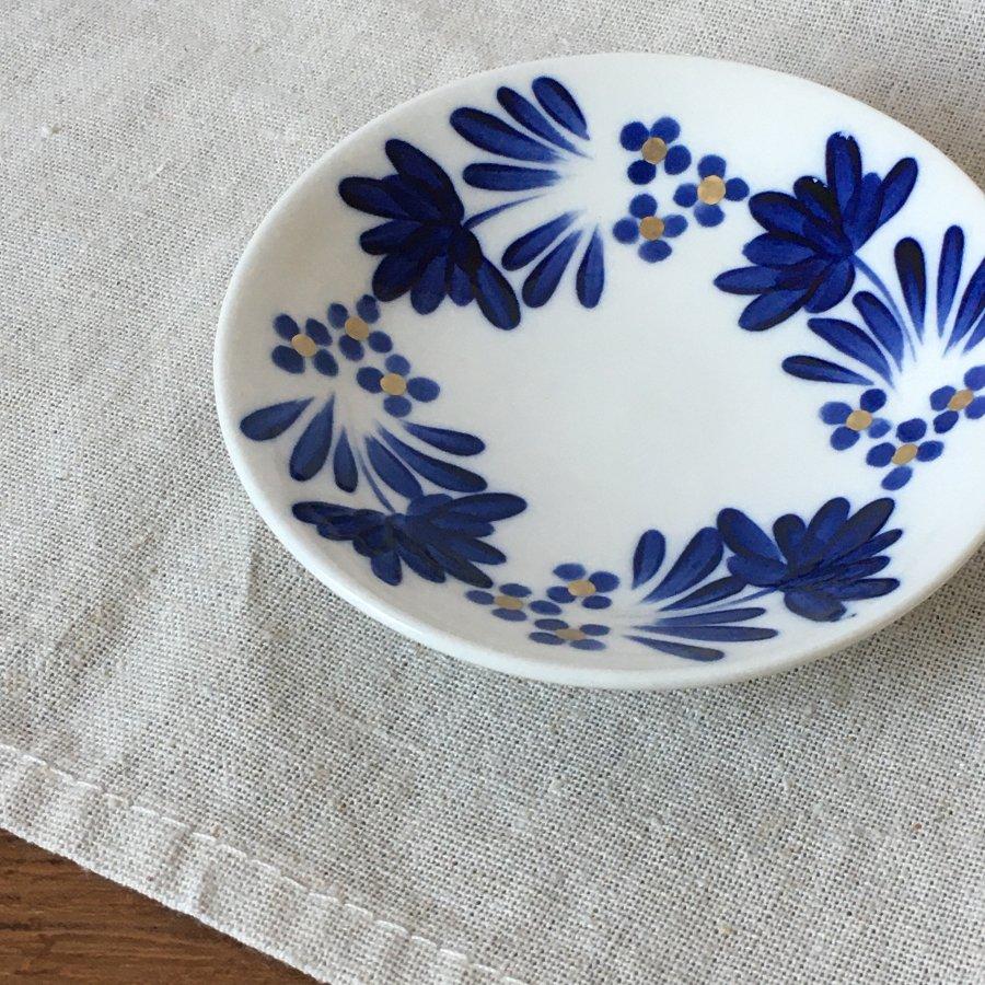 飯野夏実 青い花の小皿