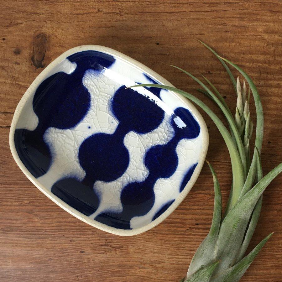 芦澤和洋 長方豆皿 青 2