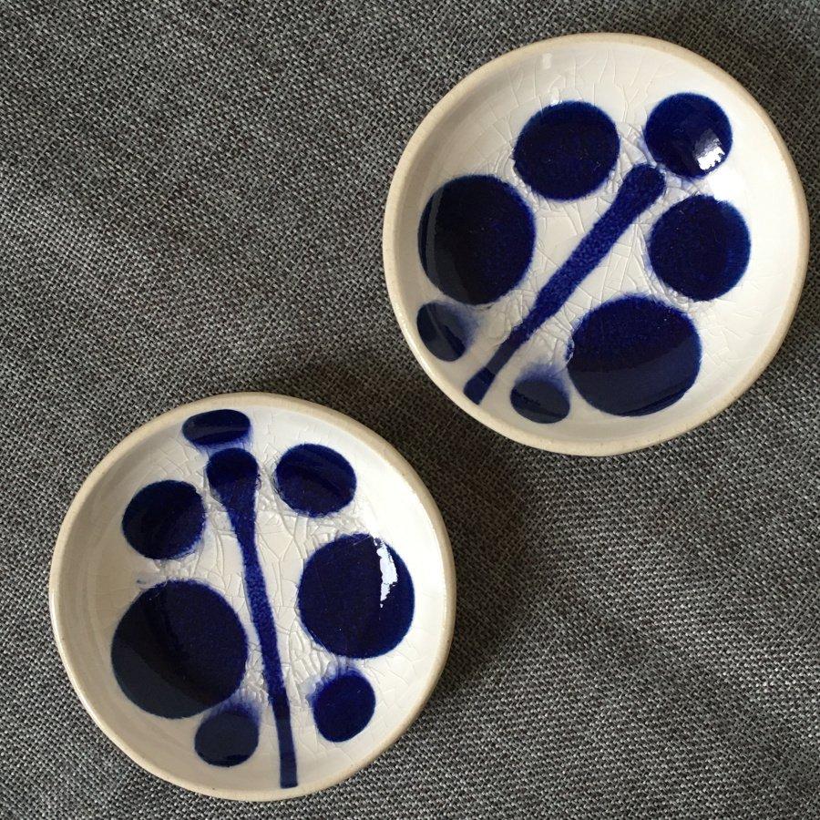 芦澤和洋 丸豆皿 青 c
