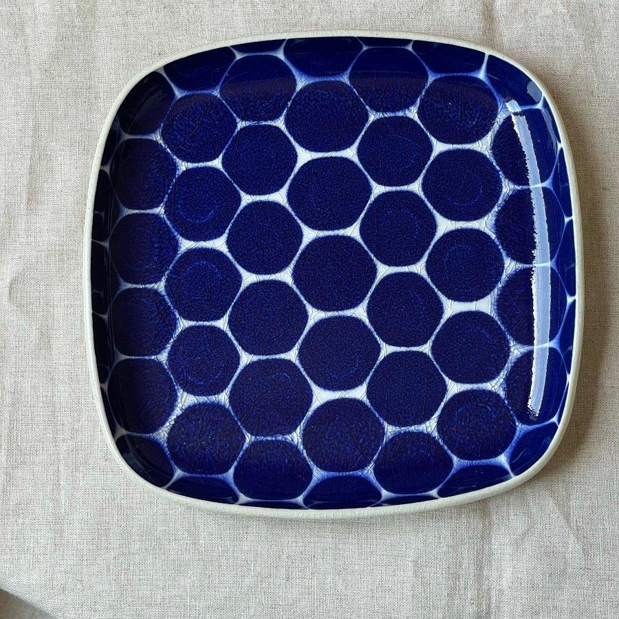 芦澤和洋 角皿 青 1