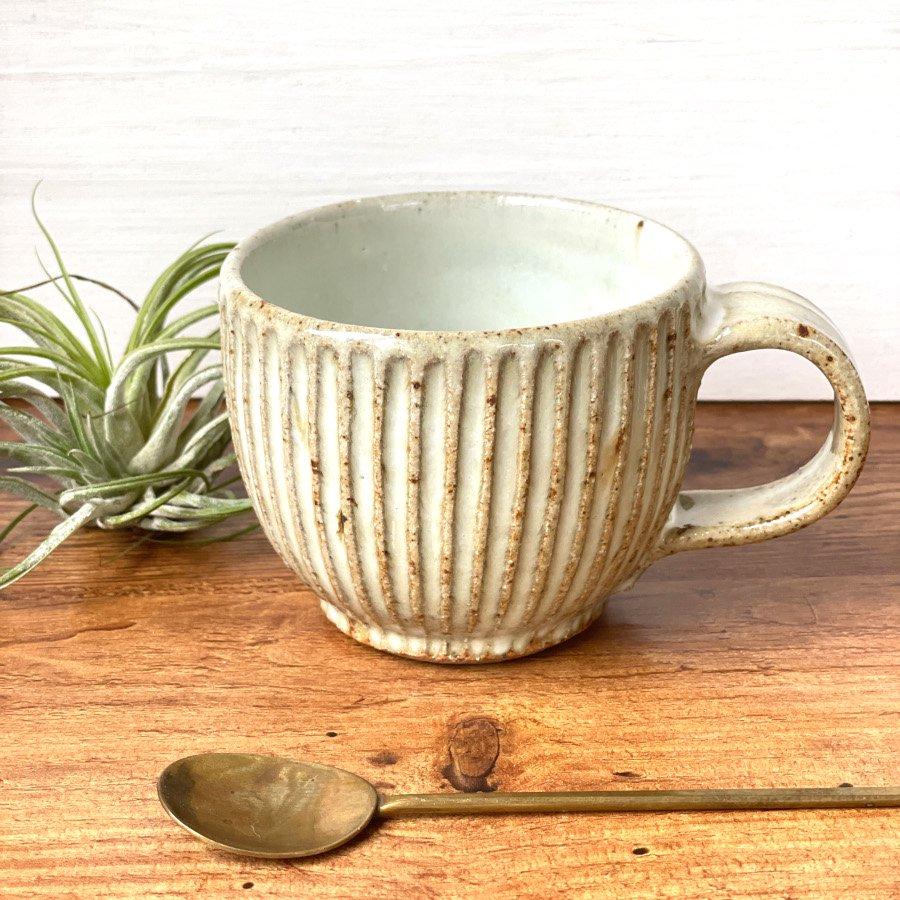 宋艸窯 マグカップ(丸) わら白