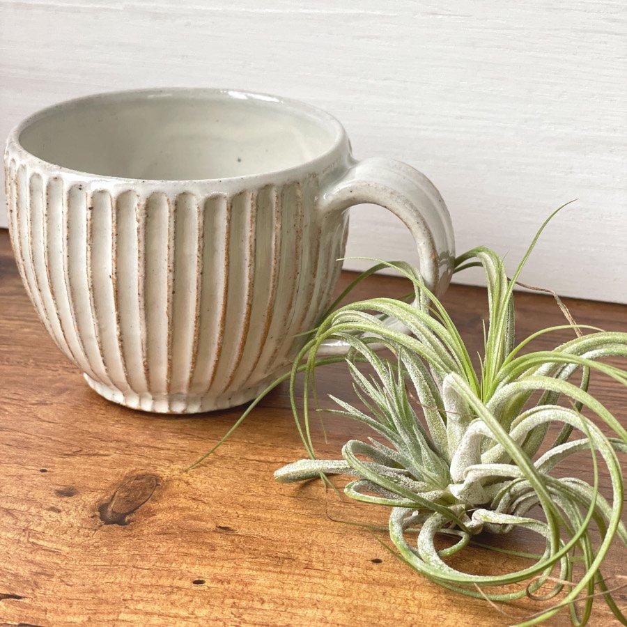 宋艸窯 マグカップ(丸) 白(粉引)