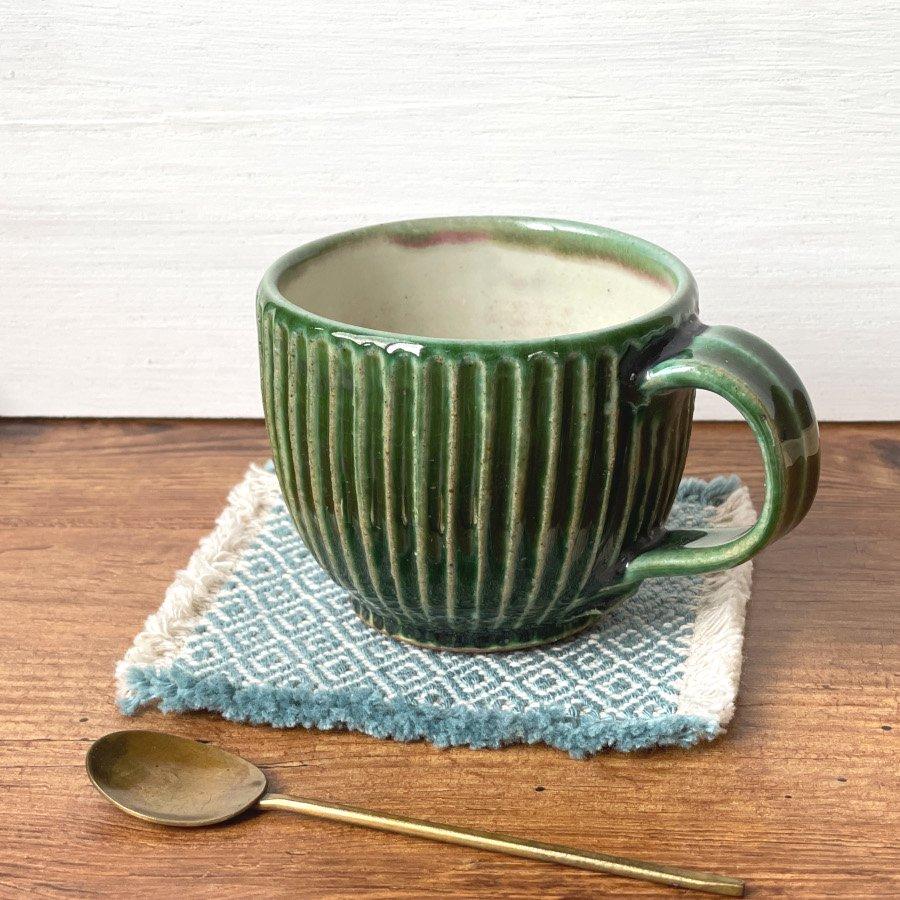 宋艸窯 マグカップ(丸) 緑