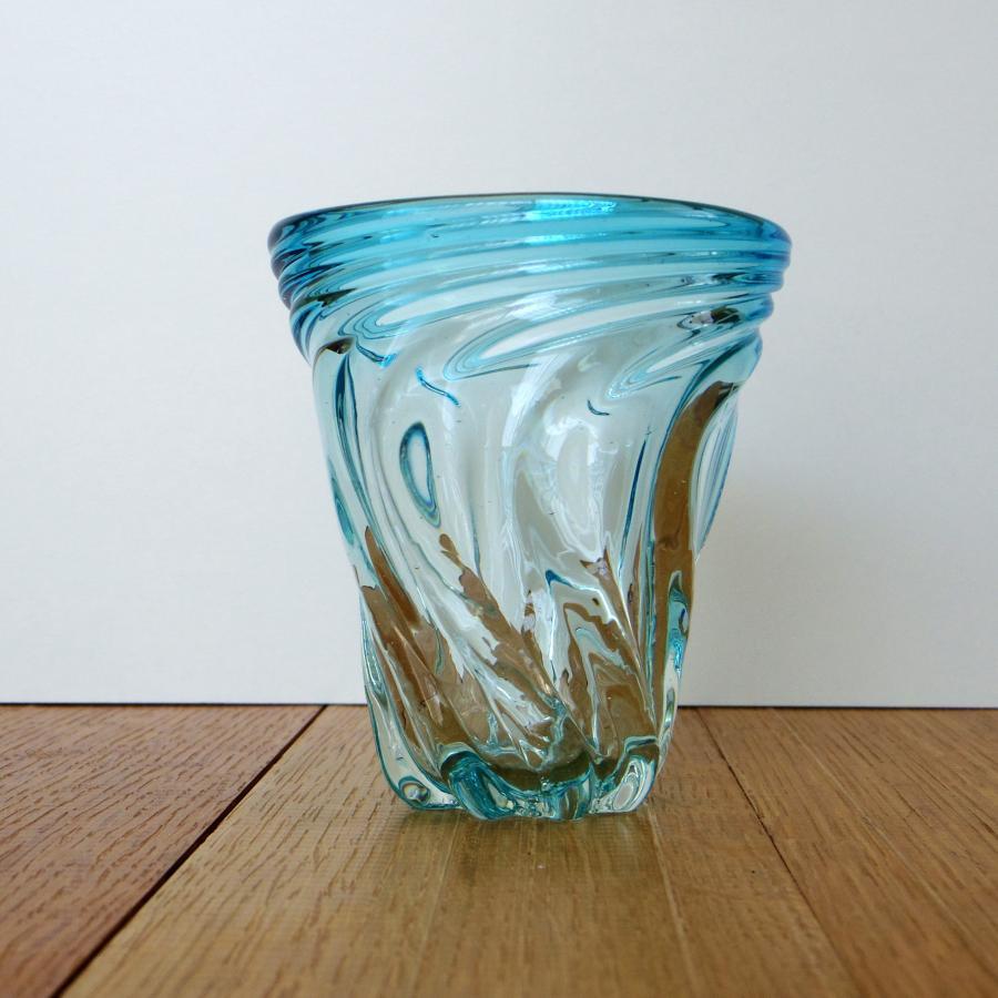 ガラス工房清天 Sモールグラス 水色