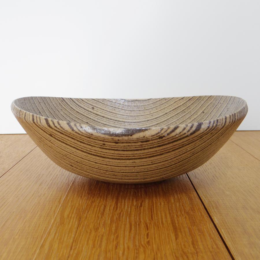 田鶴濱優香 楕円鉢-2本筋