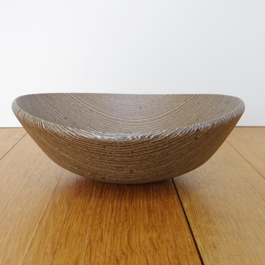 田鶴濱優香 楕円鉢-やたら縞