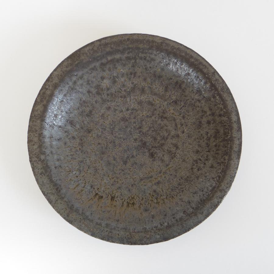 八木信樹 黒釉リム 5寸皿