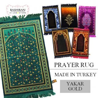 PRAYER RUG</BR>MADE IN TURKEY</BR>YAKAR GOLD
