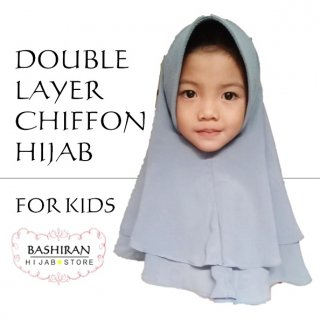 EASY HIJAB<BR>FOR GIRL</br>DOUBLE LAYER</BR>CHIFFON