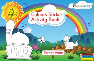 Colours Sticker </br>Activity Book</br>ぬりえ