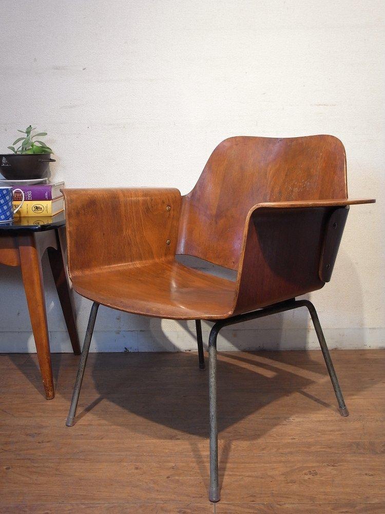 レトロモダン ヴィンテージ60's 天童木工 プライチェアデザイナーズチェア アームチェア ソファ1