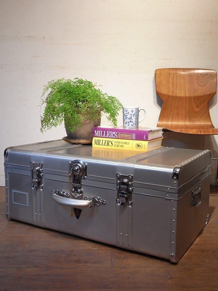 ヴィンテージ レトロ アルミトランク ジュラルミン見せる収納 ローテーブル コーヒーテーブル
