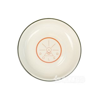 POLER  GOLDEN CIRCLE ENAMEL PLATE OFF WHITE