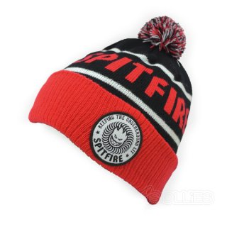 SPITFIRE BEANIE  BLACK/RED