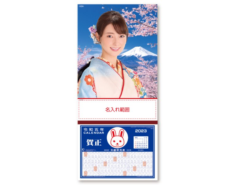 NK-301 水沢エレナ(洋装) 名入れ100冊から 2017年度 壁掛けカレンダー