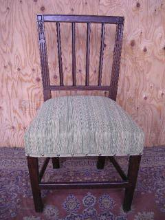 Late Georgian oak chair