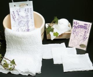 絹浴用タオルセット