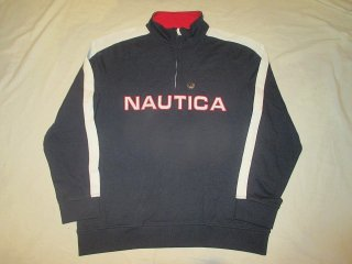 <img class='new_mark_img1' src='//img.shop-pro.jp/img/new/icons15.gif' style='border:none;display:inline;margin:0px;padding:0px;width:auto;' />NAUTICA Half Zip Sweat Shirt (新品)