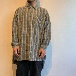 <img class='new_mark_img1' src='https://img.shop-pro.jp/img/new/icons15.gif' style='border:none;display:inline;margin:0px;padding:0px;width:auto;' />Flannel Grandfather Shirt ''MADE IN FRANCE''