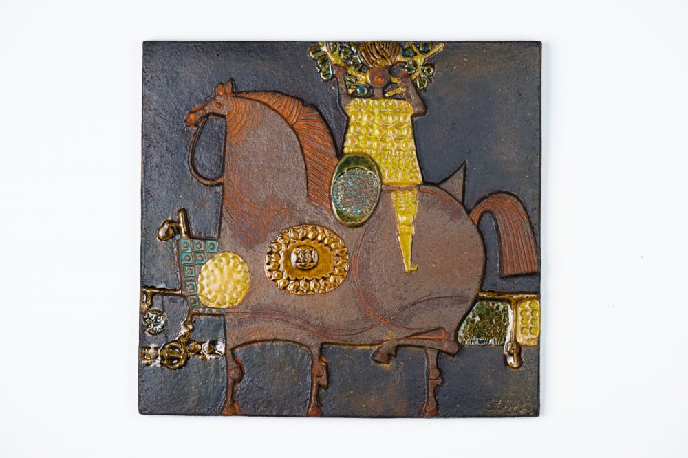 Gustavsberg / Stig Lindberg Jeanne d'Arc 陶板