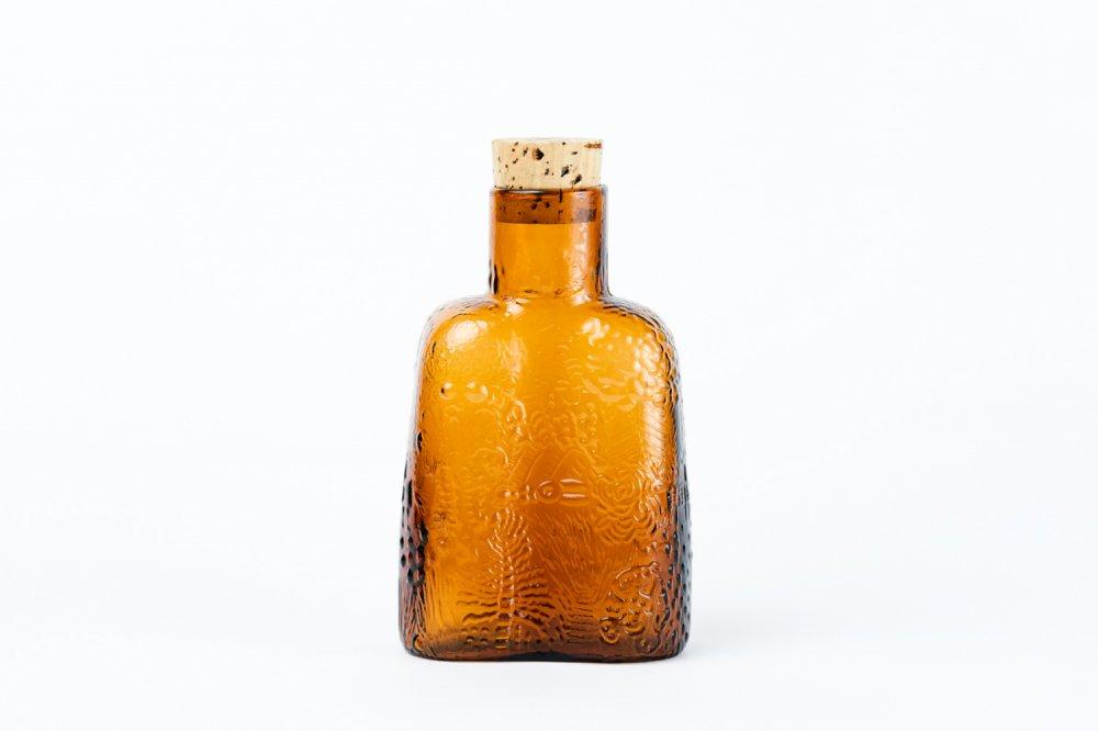 Nuutajarvi ファウナ ガラスボトル